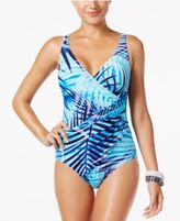 Miraclesuit Palm Reader Tropical-Print Tummy-Control One-Piece Swimsuit