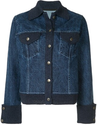 Onefifteen Knitted Trim Denim Jacket