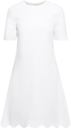 Goat Jolie Scalloped Wool-crepe Mini Dress