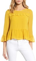 Cupcakes And Cashmere Women's Katlyn Peplum Top