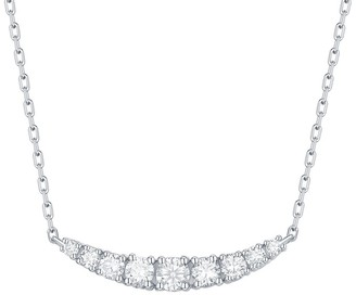 Lab Grown Diamond Smile Necklace, 1/3 Ctw 10K Solid Gold by Smiling Rocks