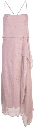 Mason by Michelle Mason Double Layer Midi Dress