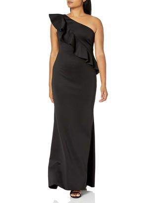 Jessica Howard JessicaHoward Women's Ruffled One Shoulder Gown