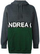 Andrea Crews split logo hoodie