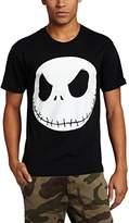 Disney Nightmare Before Christmas Men's Fat Head T-Shirt, Black, Medium