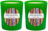 Qualitas Candles Garden Mint Beeswax Candles (Set of 2) (6.5 OZ)