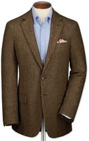 Slim Fit Tan Tweed Wool Jacket Size 40 Short By Charles Tyrwhitt