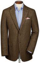 Slim Fit Tan Tweed Wool Jacket Size 40 By Charles Tyrwhitt