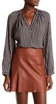 Lucky Brand Check Peasant Top