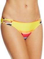 Red Carter Cutout Classic Bikini Bottom