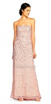 Adrianna Papell Glamorous Strapless Sweetheart Sequin Evening Dress