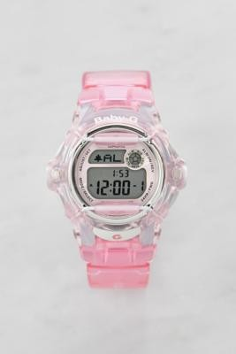 Casio BG-169R-4ER Baby-G See-Through Pink Watch - Pink ALL at Urban Outfitters