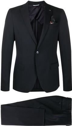 Manuel Ritz Single-Breasted Wool Suit
