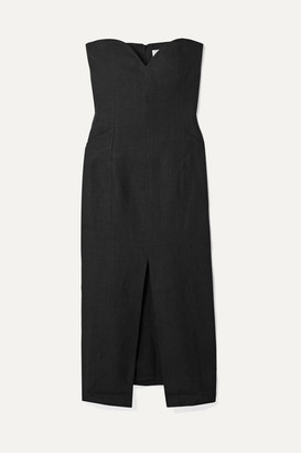 Mara Hoffman Net Sustain Diaz Hemp Midi Dress - Black