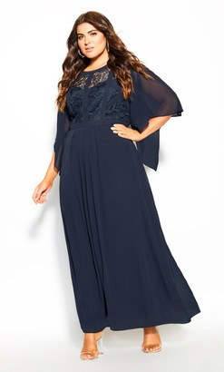 City Chic Multi Way Shrug - navy