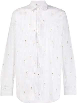 Etro regular-fit bee-print shirt