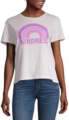 Fifth Sun Juniors Womens Crew Neck Short Sleeve Graphic T-Shirt