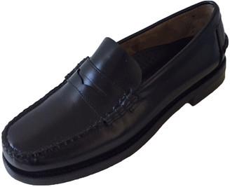 Sebago Black Leather Flats