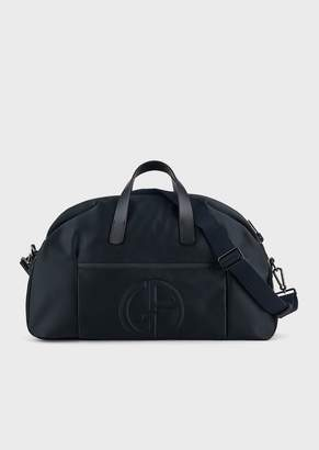 Giorgio Armani Holdall With Embossed Logo And Detachable Shoulder Strap