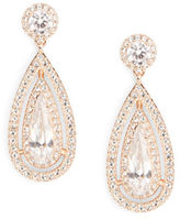 Nadri Rose Goldtone Crystal Teardrop Earrings