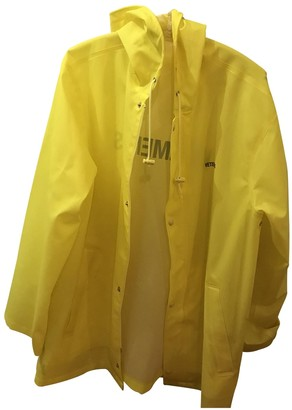 Vetements Yellow Polyester Coats