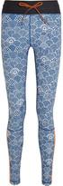 The Upside Shimoda Printed Stretch-jersey Leggings - Blue