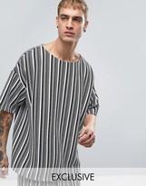 Reclaimed Vintage Inspired Oversized T-Shirt In Stripe