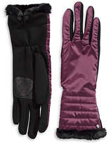 Lauren Ralph Lauren Faux Fur Tip Touchscreen Gloves