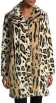 Cupcakes And Cashmere Abeni Leopard-Print Faux-Fur Coat