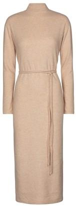 Vince Belted cotton-blend knit midi dress