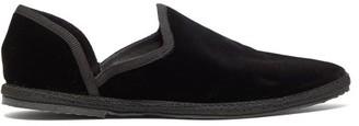 The Row Friulane D'orsay Velvet Flats - Womens - Black