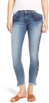 Band of Gypsies Women's Lola Embroidered Ankle Jeans
