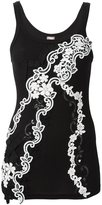 Antonio Marras embroidered tank top - women - Cotton - 42