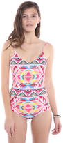 Billabong Tribe Time Lace Up One Piece Swimsuit