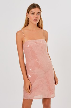 Finders Keepers ANGELINE MINI DRESS Pink Champagne
