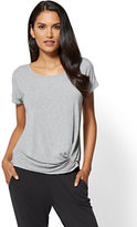 New York & Co. Knot-Front Scoopneck Tee