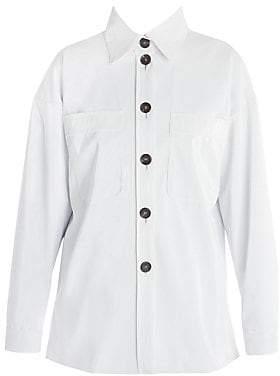 Fendi Women's Oversize Shiny Button Front Jacket