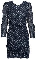 Tanya Taylor Raven Metallic Polka Dot Stretch-Silk Sheath Dress