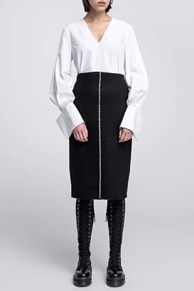 Dagmar Bette Boiled Wool Skirt Black