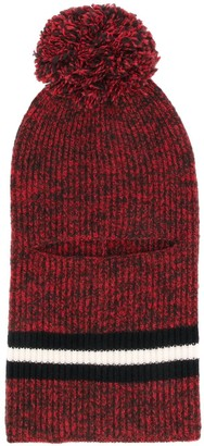 Cashmere In Love Pom Pom Balaclava Hat
