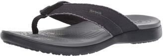 Crocs Men's Santa Cruz Canvas Flip Flop | Casual Lightweight Shoe