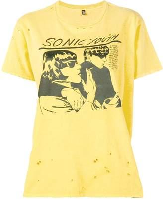 R 13 Sonic Youth print T-shirt