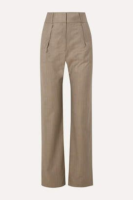 MATÉRIEL Pleated Pinstriped Wool-blend Straight-leg Pants - Gray