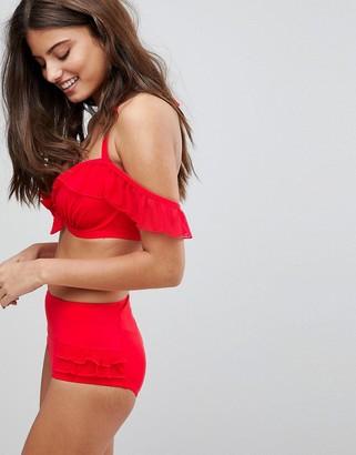 Pour Moi? Pour Moi Control Bikini Bottom-Red