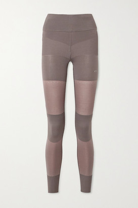 adidas by Stella McCartney Paneled Stretch-knit Leggings - Light brown