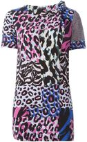Versace 'Wild Patch' short sleeved blouse - women - Silk - 38