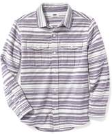 Old Navy Striped Brushed-Twill Double-Pocket Shirt for Boys