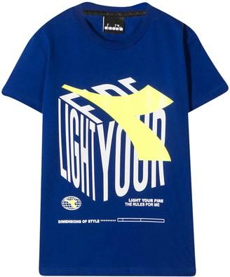 Diadora Royal Blue T-shirt Teen Gcds Kids
