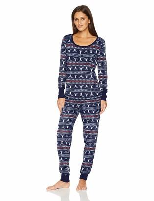 Mae Amazon Brand Women's Sleepwear Thermal Pajama Set