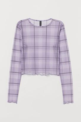 H&M Cropped mesh top
